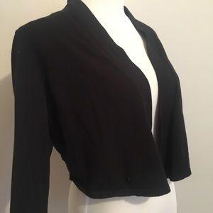 Charter Club black cropped cardigan 1X EUC
